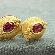 SALE Estate 14K Garnet Earrings