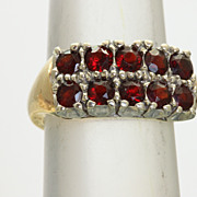 SALE 14K/Platinum 1.5 CT Garnet Ring