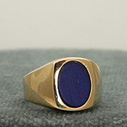 SALE 14K Lapis Ring