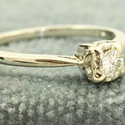 SALE 14KW 0.15 CT Diamond Ring