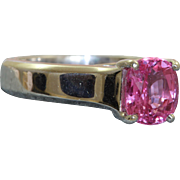 SALE Jeff Cooper Platinum 2 CT Natural Pink Sapphire Ring