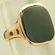 SALE 14K Rose Gold Bloodstone Shreve & Co Ring