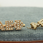SALE 10 K  Pair of Fraternity Pins