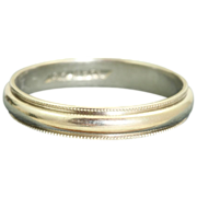 SALE Estate Jabel 18 K White Gold Band