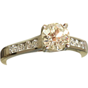 SALE Estate Platinum Jeff Cooper 1.26 CT Diamond Ring