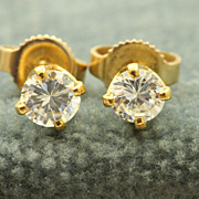 SALE Estate 14 K 0.40 CT TW Diamond Studs