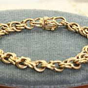 SALE Estate 14 K Double Link Charm Bracelet