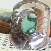 SALE Vintage Native American Turquoise Belt Buckle