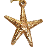 SALE 14 K Star Fish Charm/Pendant