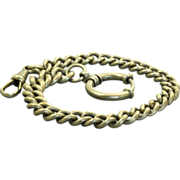 SALE PENDING Early Low Karat Gold Curb Cable Watch Chain