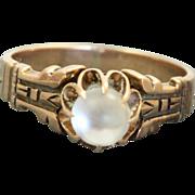 SALE Estate 14 K Moonstone Ring