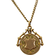 SALE 10 K Tri-Colored Gold Locket