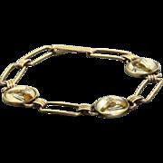 SALE 10 K Essex Reverse Crystal Painted Bracelet Krementz 'Diana'