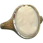 SALE Vintage 18 KW Cameo Ring
