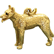 SALE Estate 14 K Vintage Dog Charm