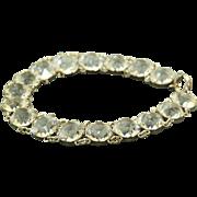 Estate Sterling Rock Crystal Bracelet