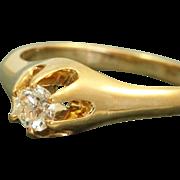 SALE Estate 14 K Belcher 0.26 CT Diamond Heritage Engagement Ring