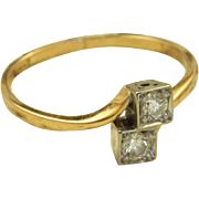 SALE 18 K @0.40 CT Diamond ByPass Ring