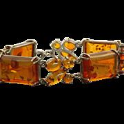 Sterling Vintage Baltic Sea Amber Bracelet