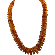 Estate Graduated Baltic Sea Honey Amber Necklace