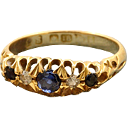 18 CT Sapphire and Diamond Ring