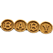 Early 20th Century 18 CT Baby Brooch