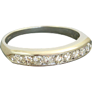 Estate 900 Platinum 0.48 CT Diamond Band
