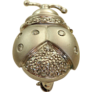 Estate 14 K Diamond Lady Bug