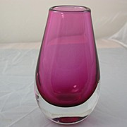 SALE Orrefors Art Glass Vase