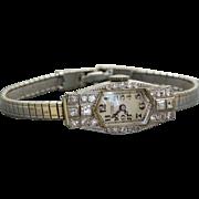 1930's Platinum and Diamond E Gubelin Lucerne Ladies Watch
