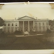 SALE Rare Antique Diapositive Glass Image Of The White House