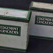 SALE 2 Vintage Edgemont Crackers Tins Dayton Ohio