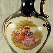 "SALE Pair Giffard Dark Blue Bottles 10 1/4"" Tall Made In France"