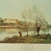 SALE Colored Print Of VILLE D'AVRAY Printed In Italy