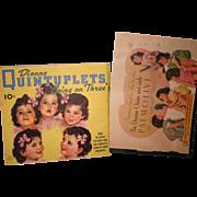 SALE Madam Alexander Dionne Quintuplets scrap book original articles bonus book
