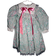 "SOLD Lovely crisp Linen Easter dress mint for 28-29"" doll - Red Tag Sale Item"