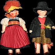SALE Miniature dollhouse German bisque couple figures