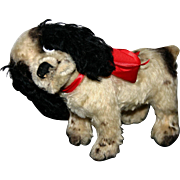 REDUCED Early nickel button German mohair Steiff Cockie dog