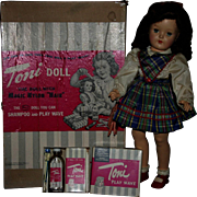 "SALE Ideal P92 1949 19"" Toni doll Box with extras"