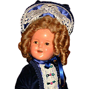 Vintage composition Shirley Temple 15 doll Great costume fantastic wig Ideal mk