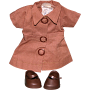 SALE PENDING Vintage tagged Nancy Ann Storybook Muffie Brownie costume shoes