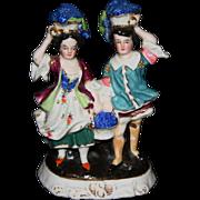 SALE Vintage German bisque figurine couple