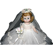 SALE Early 1961 Madame Alexander BKW  Wendy Ann Bride #480 box