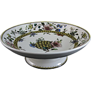 Aesthetic Brown / Polychrome Transferware Footed Bowl - 1883