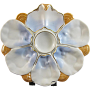 SALE 19th Century / Victorian European Porcelain Oyster Plate - 1870-80s (30% OFF)
