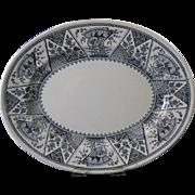 SALE Aesthetic Movement Black Transferware Platter - 1882