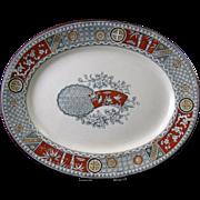 SALE English Aesthetic Movement Transferware Platter - 1879