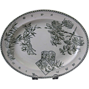 SALE Victorian English Aesthetic Movement Platter 1870-80