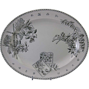 SALE Large Victorian English Aesthetic Movement Platter 1870-80
