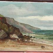 SALE Oil painting of Cornwall..Coastal Cornwall scene..